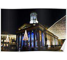 Christmas Lights, Gallery of Modern Art, Glasgow Poster