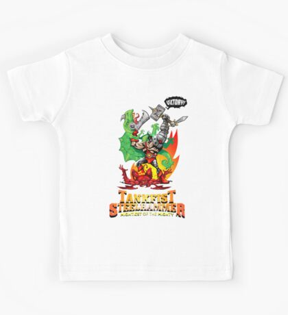 Tankfist Steelhammer – Mightiest of the Mighty Kids Tee