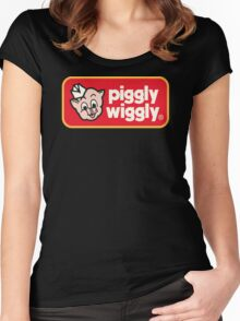 Piggly Wiggly T-shirt retro 70's 80's vintage country 100% cotton graphic tee Women's Fitted Scoop T-Shirt