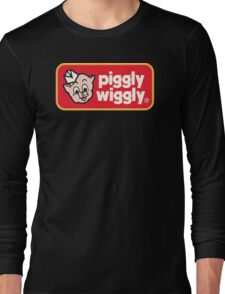 Piggly Wiggly T-shirt retro 70's 80's vintage country 100% cotton graphic tee Long Sleeve T-Shirt