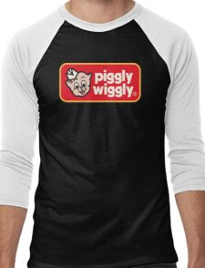 Piggly Wiggly T-shirt retro 70's 80's vintage country 100% cotton graphic tee Men's Baseball ¾ T-Shirt