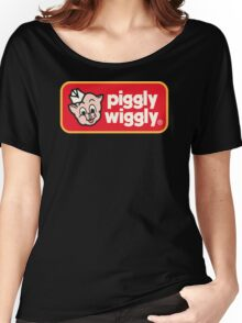 Piggly Wiggly T-shirt retro 70's 80's vintage country 100% cotton graphic tee Women's Relaxed Fit T-Shirt