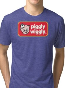 Piggly Wiggly T-shirt retro 70's 80's vintage country 100% cotton graphic tee Tri-blend T-Shirt