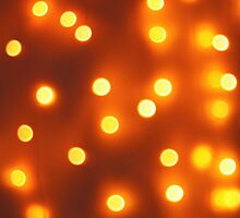 Abstract defocused and blur bokeh background of small yellow lights by vladromensky