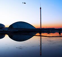 Sunset Glasgow Science Centre by David Alexander Elder