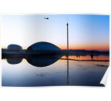 Sunset Glasgow Science Centre Poster