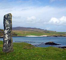 Standing Stone on the Isle of Eigg, Scotland by David Alexander Elder
