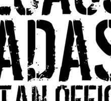 Underwriter because Badass Isn't an Official Job Title Sticker
