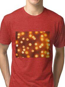 Abstract defocused and blur small yellow lights Tri-blend T-Shirt
