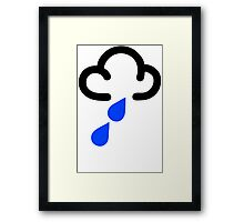 RAIN WEATHER SYMBOL Funny Mens T Shirt Size S - XXXL - Raining Flood Humour Framed Print