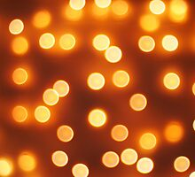 Abstract defocused and blur bokeh of small yellow lights by vladromensky
