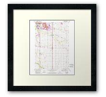 USGS Topo Map Oregon Tangent 281754 1969 24000 Framed Print