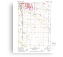 USGS Topo Map Oregon Tangent 281754 1969 24000 Canvas Print