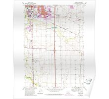 USGS Topo Map Oregon Tangent 281754 1969 24000 Poster