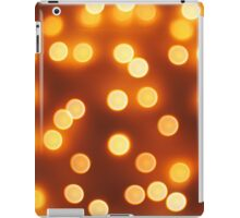 Abstract defocused and blur bokeh of small yellow lights iPad Case/Skin