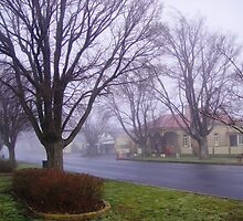 Ross Post Office on a Misty Morning by Wendy Dyer