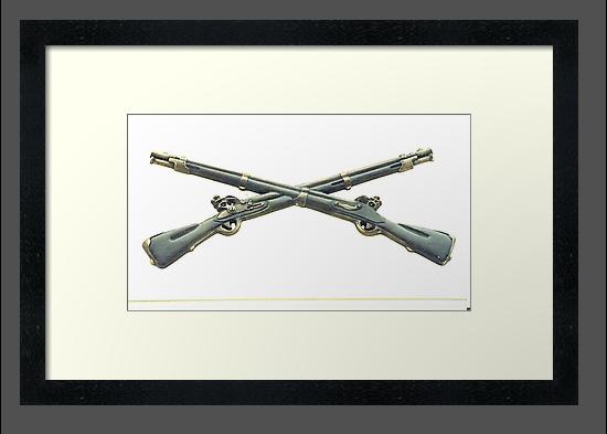 U.S. Infantry Cross Rifles Insignia Bronze Sculpture by Vincent von Frese