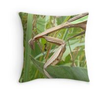 Metalic Mantis Throw Pillow