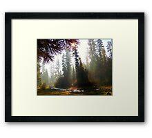 Autumn Haze on the North Fork Framed Print