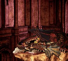 Dragons sleep counting sheep by Fiery-Fire