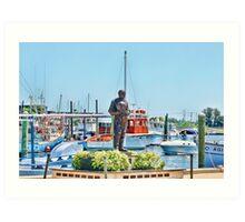 Sponge Diver Statue, Tarpon Springs, Florida Art Print
