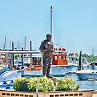 Sponge Diver Statue, Tarpon Springs, Florida by AuntDot