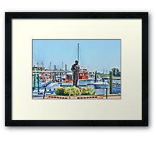 Sponge Diver Statue, Tarpon Springs, Florida Framed Print