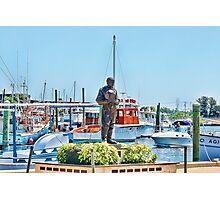 Sponge Diver Statue, Tarpon Springs, Florida Photographic Print