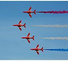 The Red Arrows sideways on by Tony Steel