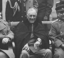 The Big Three During The Yalta Conference Sticker