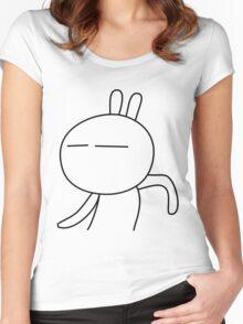 Tuzki 2 - I'm so Happy! Women's Fitted Scoop T-Shirt