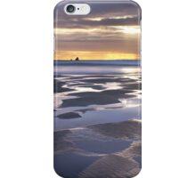 Sunset at Perranporth Beach iPhone Case/Skin
