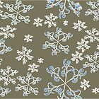 Abstract gray background with snowflake by Ludmilka