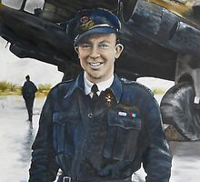 Noel McPhail and his Halifax  Bomber by Wayne Dowsent