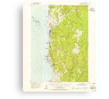 USGS Topo Map Oregon Gold Beach 282530 1954 62500 Canvas Print