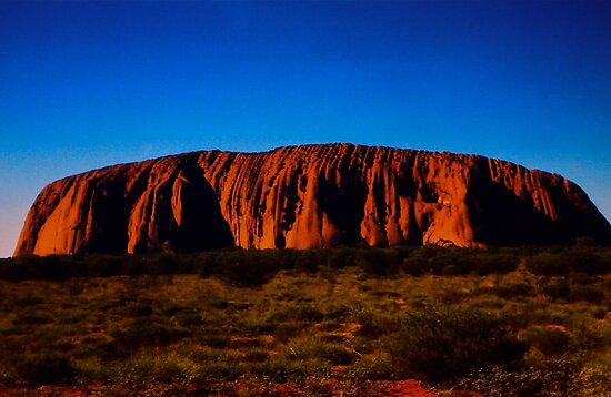 Uluru As The Sun Set by Ronald Rockman