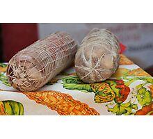 italian salami Photographic Print