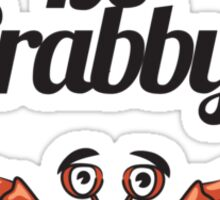 """Don't Be Crabby"" Typography with Cute Crab Sticker"