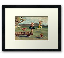 Ready Set Jump! Framed Print