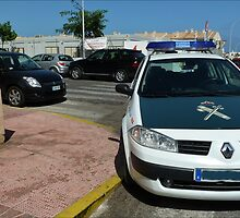 Police Parking by Janone
