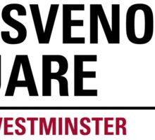 Grosvenor London Road Square Sign Sticker