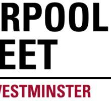 Liverpool Street London Road Sign Sticker