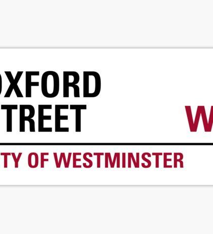 Oxford Street London Road Sign Sticker