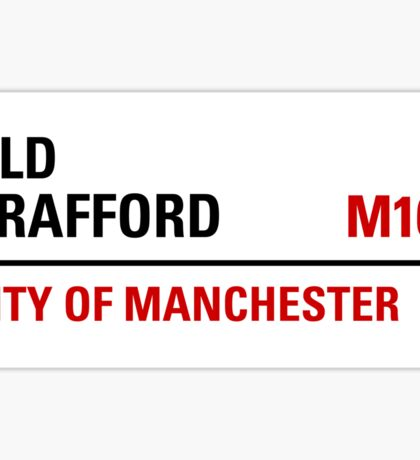 Old Trafford Manchester Road Sign Sticker