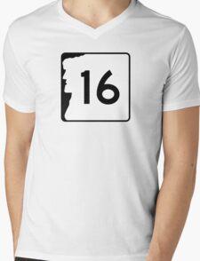 Route 16, New Hampshire Mens V-Neck T-Shirt
