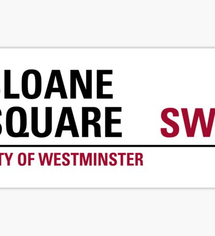 Sloane Square London Road Sign Sticker