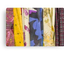 colored fabrics Canvas Print