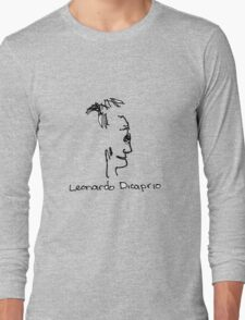 A portrait of Leonardo Dicaprio Long Sleeve T-Shirt