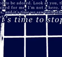 Amelia Pond, Time to Stop Waiting Sticker