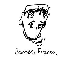 A portrait of James Franco by mydirtyface